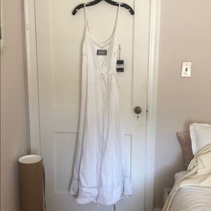 Reformation White Linen Maxi Dress
